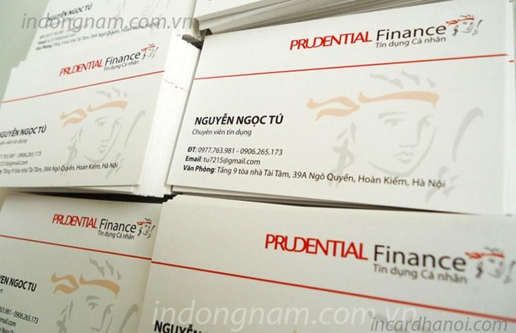 làm card visit công ty bảo hiểm prudential