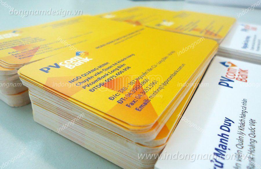 In name card ngân hàng PVCom bank