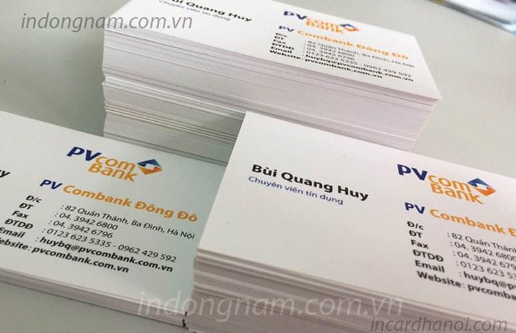 in name card ngân hàng PVcombank