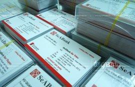 Thiết kế in card visit cho cán bộ nhân viên ngân hàng Sea Bank