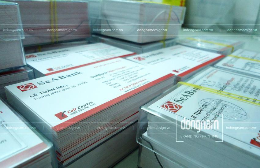 in card visit ngân hàng Sea Bank - Đông Á Bank