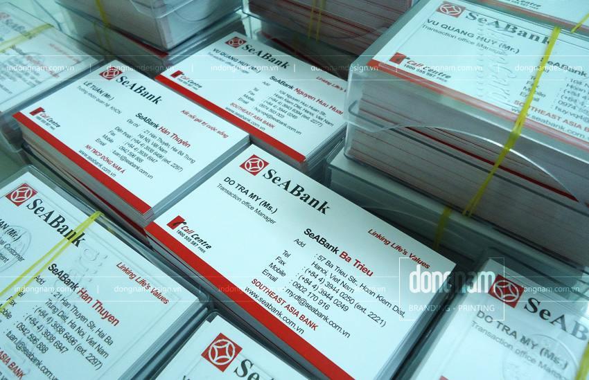 In card visit ngân hàng Đông Á Sea Bank