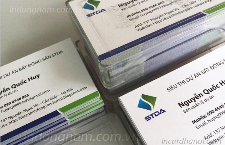 In card visit lấy ngay bất động sản stda