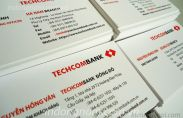 In card visit ngân hàng Techcombank
