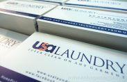 In card visit dịch vụ giặt là cao cấp USA