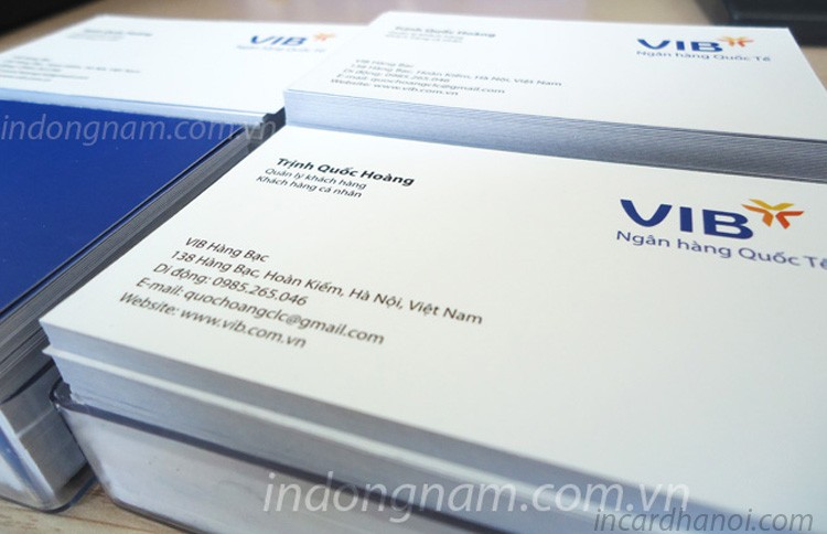 in name card ngân hàng vib bank