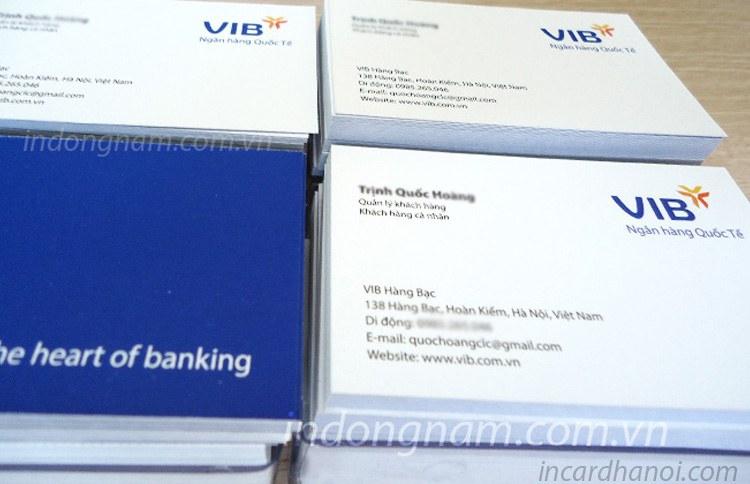 in danh thiếp ngân hàng vib bank