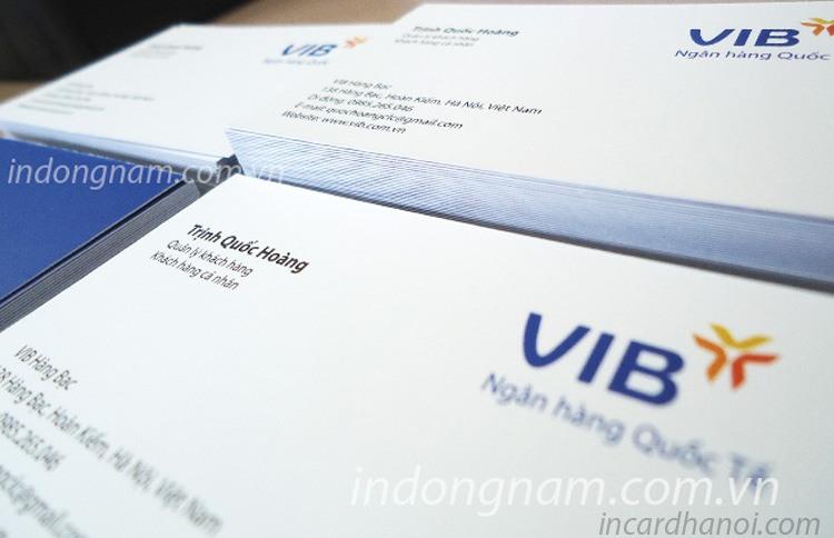 in card visit ngân hàng vib bank