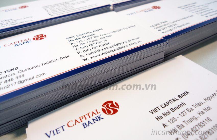 in card visit ngân hàng Viet capital