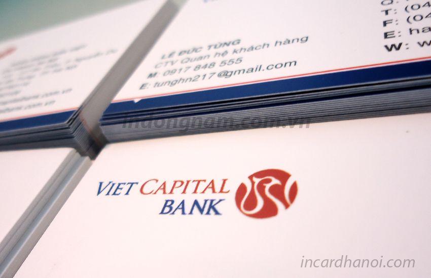 làm card visit ngân hàng viet capital bank
