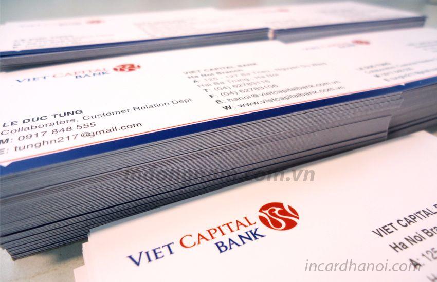 in card visit ngân hàng Bản Việt - Viet Capital bank
