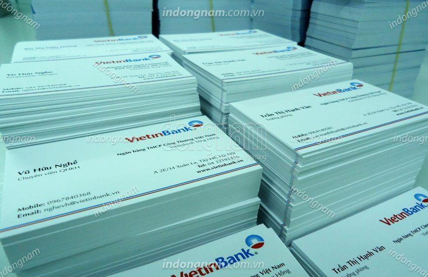 in name card ngân hàng vietinbank