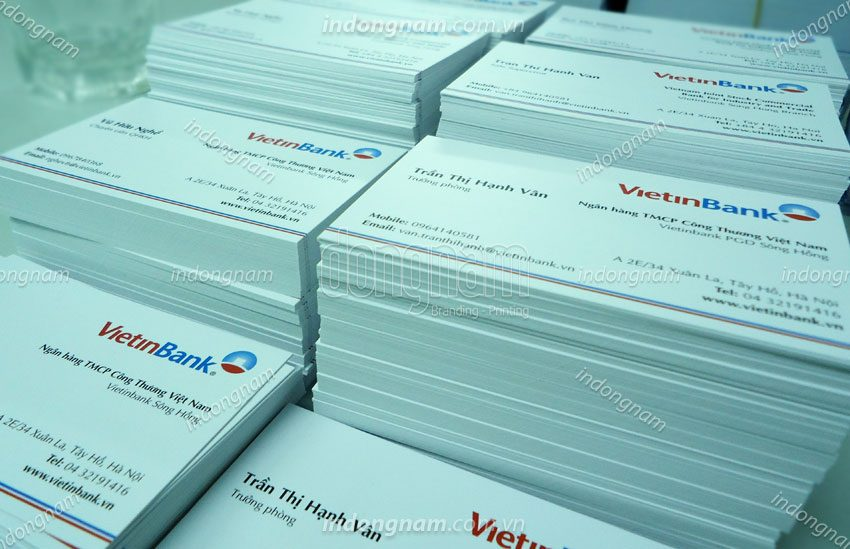 in card visit ngân hàng vietinbank