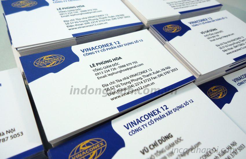 làm card visit công ty vinaconex