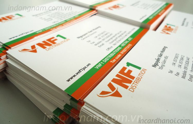 In name card công ty VNF1