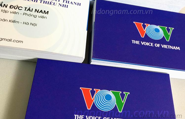 in card visit VOV