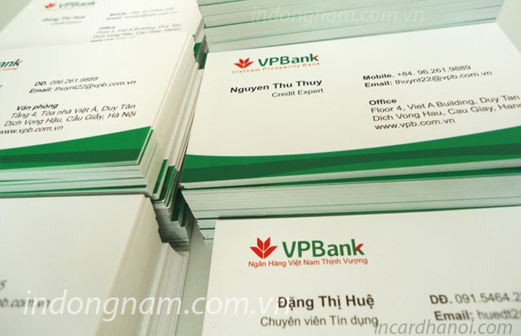 làm card visit ngân hàng vpbank