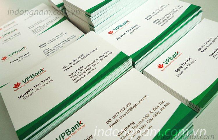 In name card ngân hàng vpbank