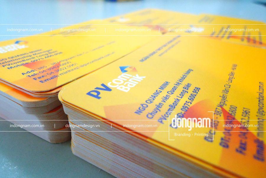 làm card visit ngân hàng PVcombank