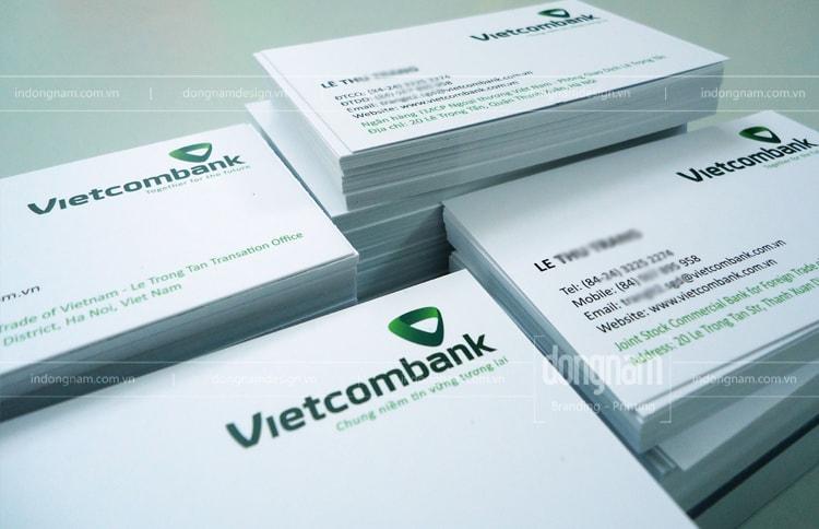 in card visit ngân hàng vietcombank