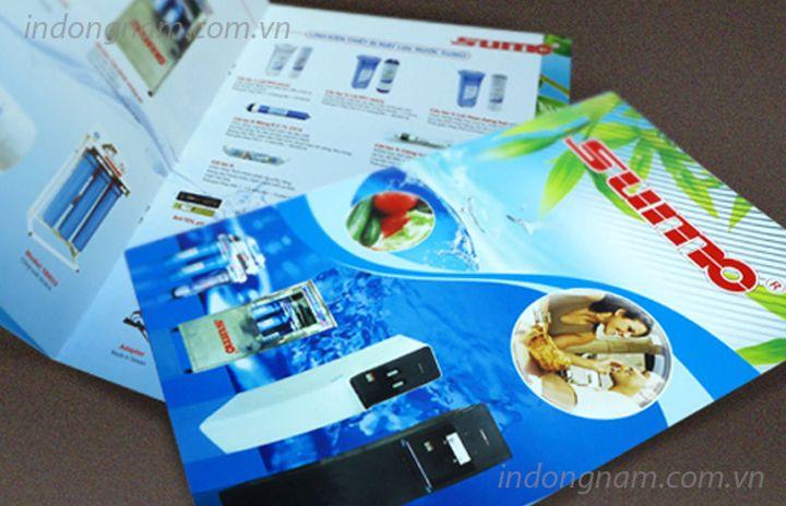 Thiết kế in catalogue giới thiệu máy lọc nước sumo
