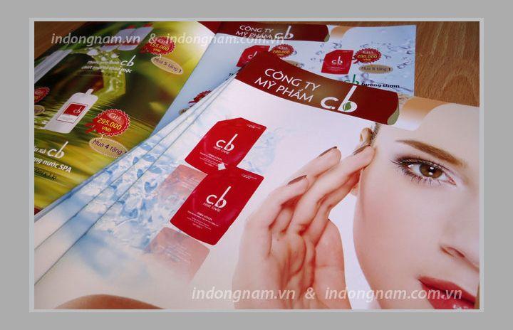 in catalogue mỹ phẩm