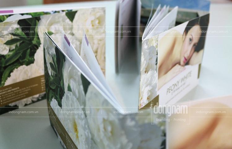 thiết kế in catalogue mỹ phẩm làm đẹp
