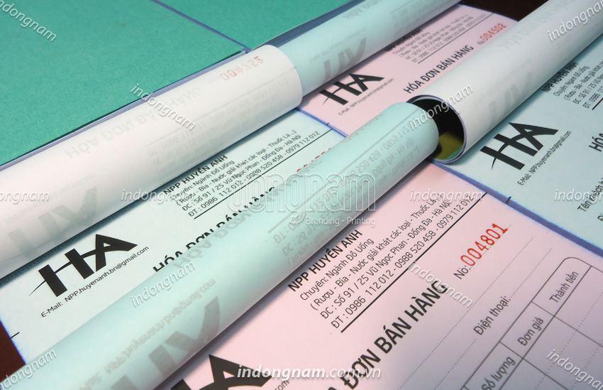 in hoá đơn bán hàng A5 giấy cacbon 2 liên