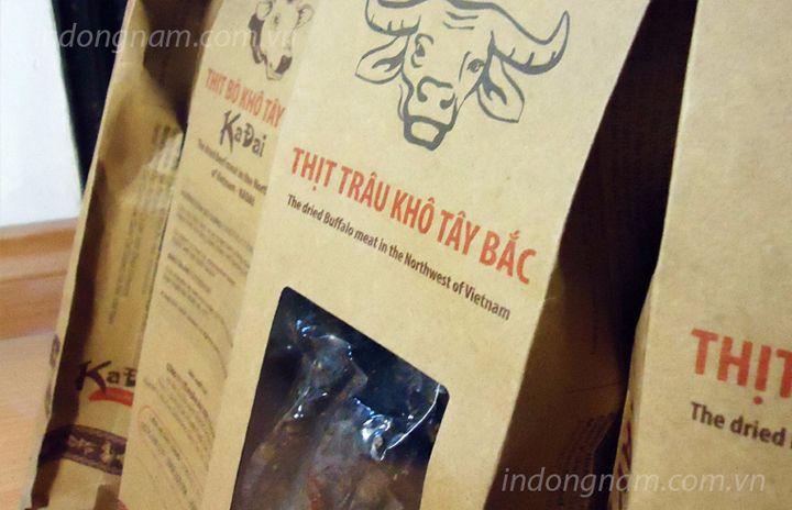 In túi giấy kraft đựng thịt sấy khô