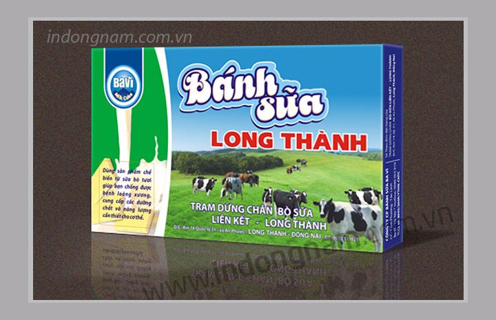 in vỏ hộp giấy bánh sữa
