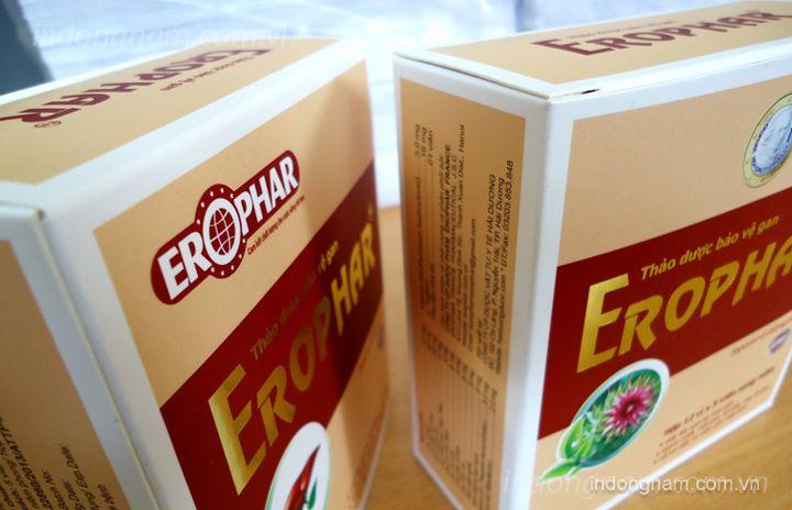 in vỏ hộp giấy thuốc bổ gan Erophar