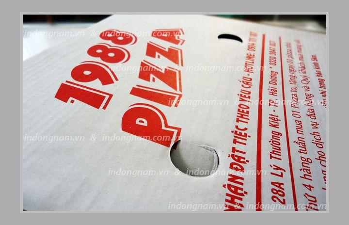 sản xuất vỏ hộp bánh Pizza giấy carton sóng