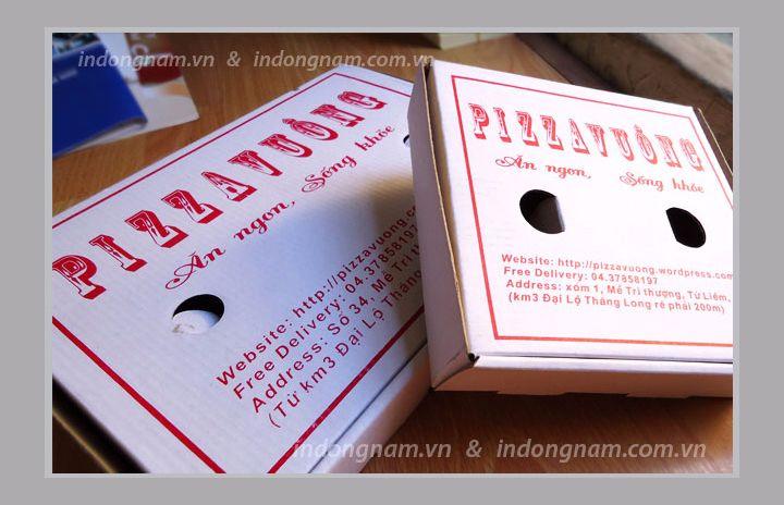 Làm hộp bánh Pizza giá rẻ tại hà Nội
