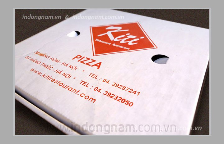 in vỏ hộp bánh Pizza giấy carton sóng