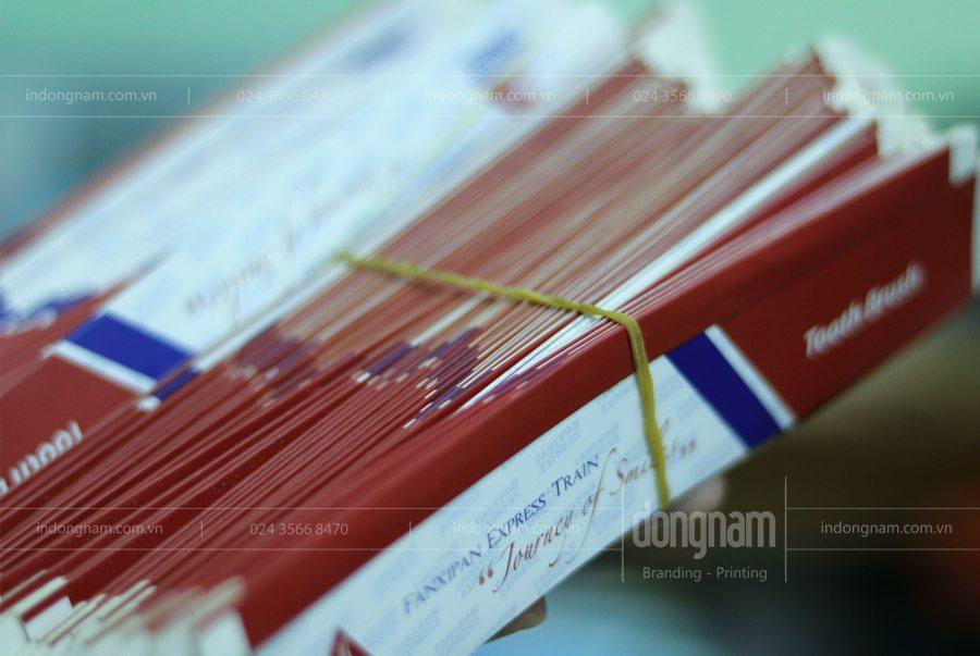 In hộp giấy số lượng ít cho các khách sạn nhà nghỉ