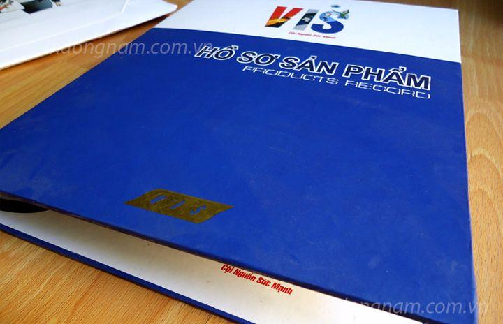 In kẹp file tài liệu bìa cứng đựng hồ sơ