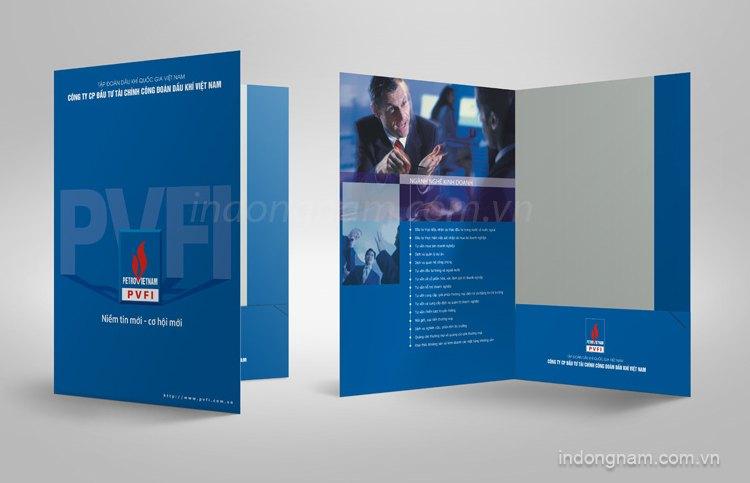 Thiết kế in kẹp file công ty tài chính công đoàn Dầu khí PVFI