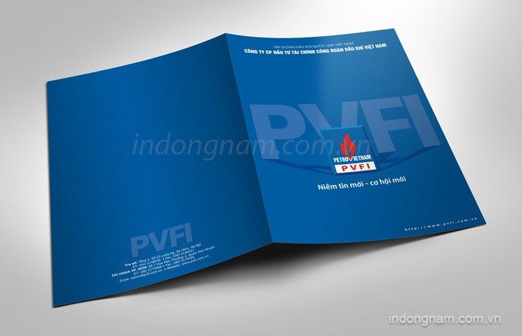 Thiết kế in kẹp file tài liệu công ty tài chính công đoàn Dầu khí