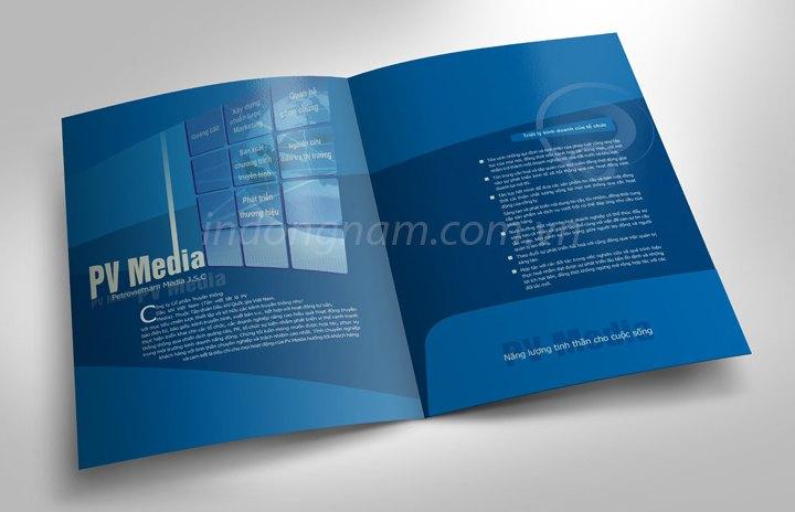 Thiết kế in kẹp file tài liệu công ty truyền thông dầu khí