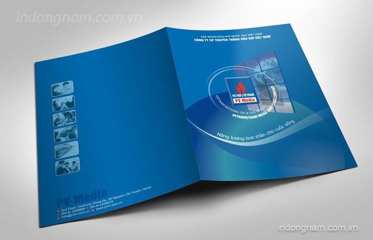 Thiết kế in kẹp file công ty truyền thông dầu khí