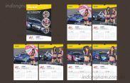 Thiết kế lịch, in lịch treo tường công ty Exedy