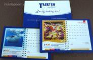 In lịch bàn, lịch sổ công ty Tasetco