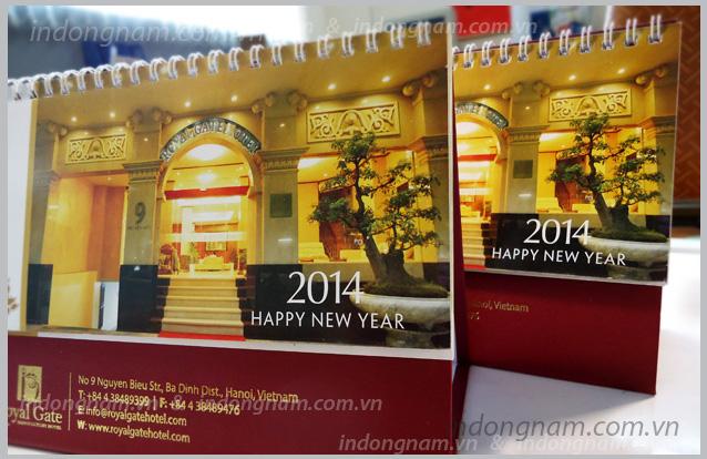 Thiết kế lịch bàn, in lịch bàn năm mới