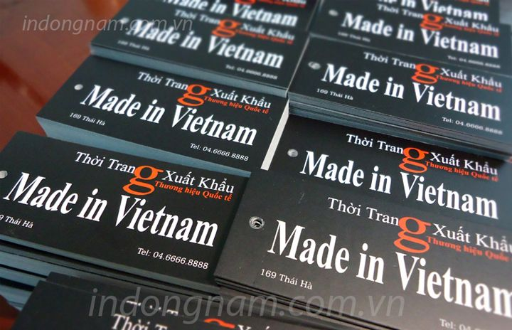 in mác giấy quần áo made in vietnam