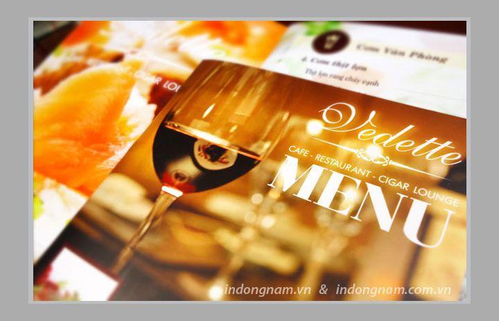 In menu rượu nhà hàng