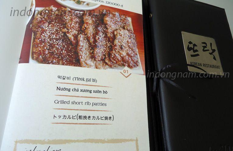 Thiết kế in menu nhà hàng hàn quốc