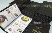 Làm menu bìa da nhà hàng ở đâu Hà Nội