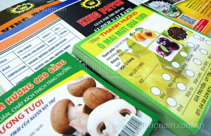 in nhãn mác thực phẩm nông sản decal giấy