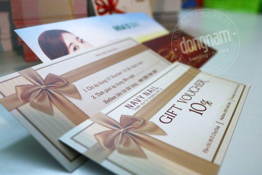 dịch vụ in voucher lấy ngay số lượng ít tại Hà Nội