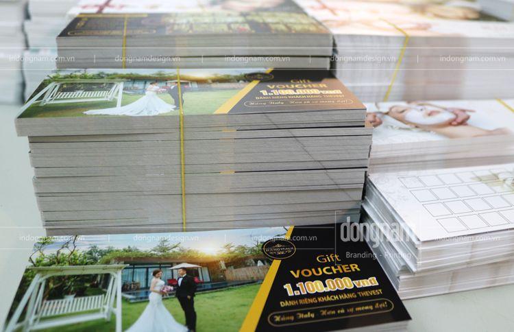 thiết kế in voucher dịch vụ cưới hỏi giá rẻ tại Hà Nội